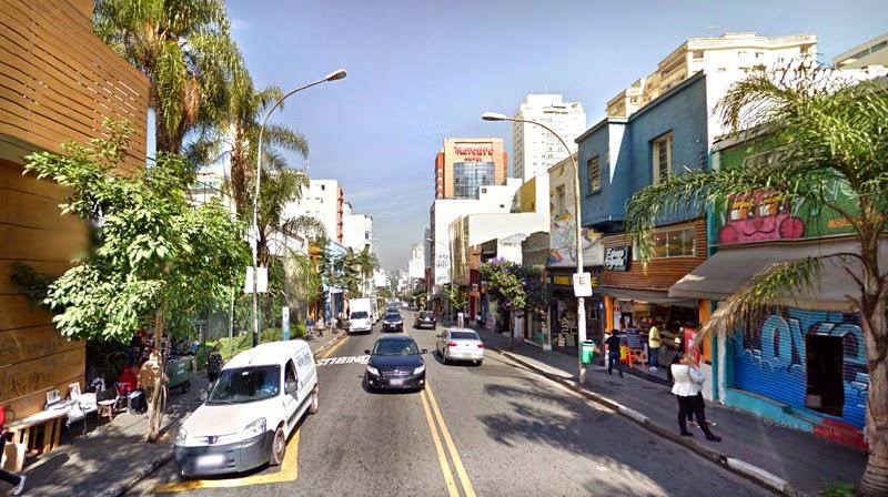 Rua Augusta após Alameda Jaú em direção à esq. Al. Franca
