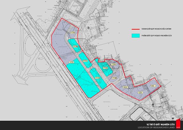 Ký hiệu và bố trí các lô đất theo quy hoạch