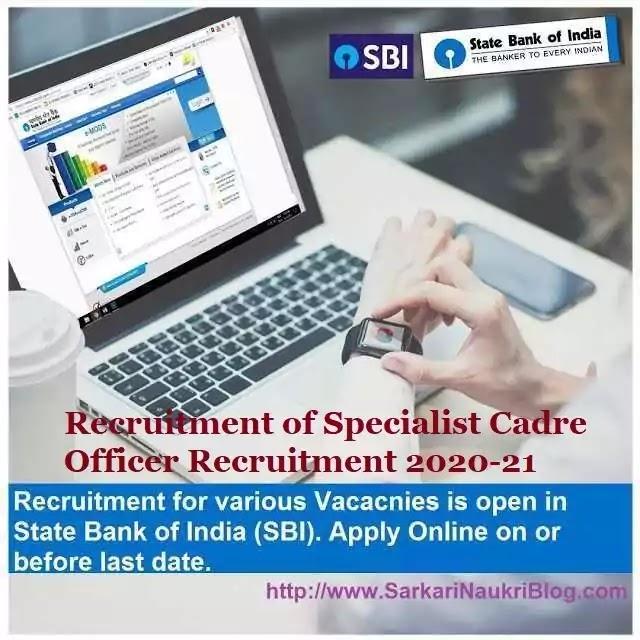 SBI Specialist Officer Recruitment 2020-21