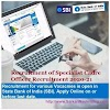 SBI Specialist Cadre Officer Recruitment 2020-21