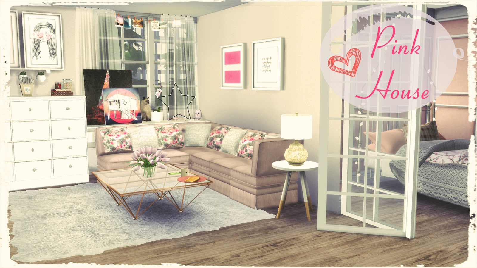 Sims 4 Pink House Dinha