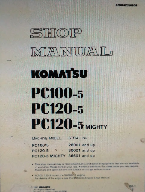 Shop Manual Komatsu PC100-5 PC120-5 1