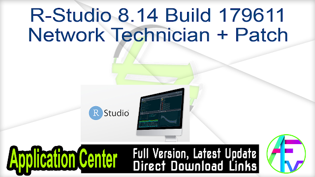 R-Studio 8.14 Build 179611 Network Technician + Patch