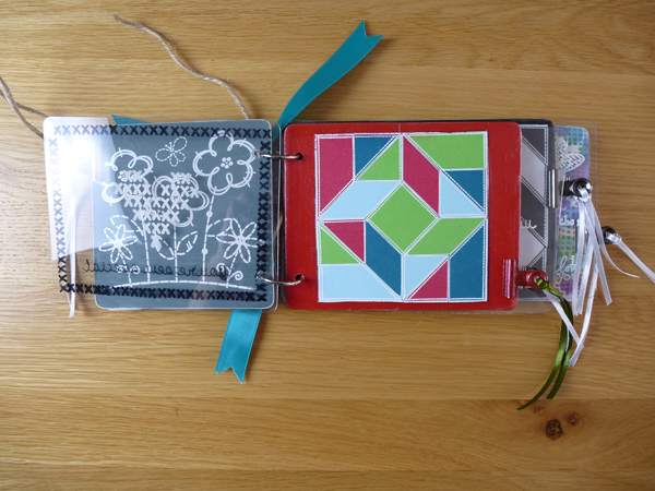 Quilting MDF book using Woodware products