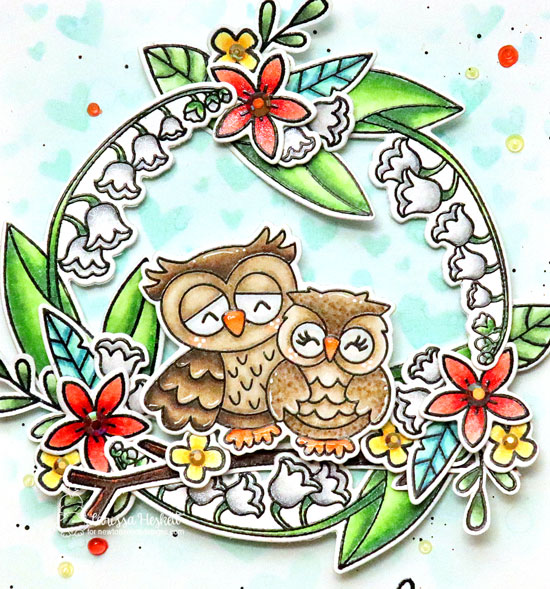 Owl-ways and Forever Card by Larissa Heskett | Love Owl-ways Stamp Set,  Little Lillies Stamp Set and other assorted stamps by Newtons Nook Designs #newtonsnook #handmade