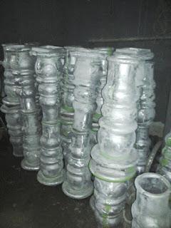 Hasil pengecoran Ornamen Tiang Lampu Anti dengan Aluminium Cor