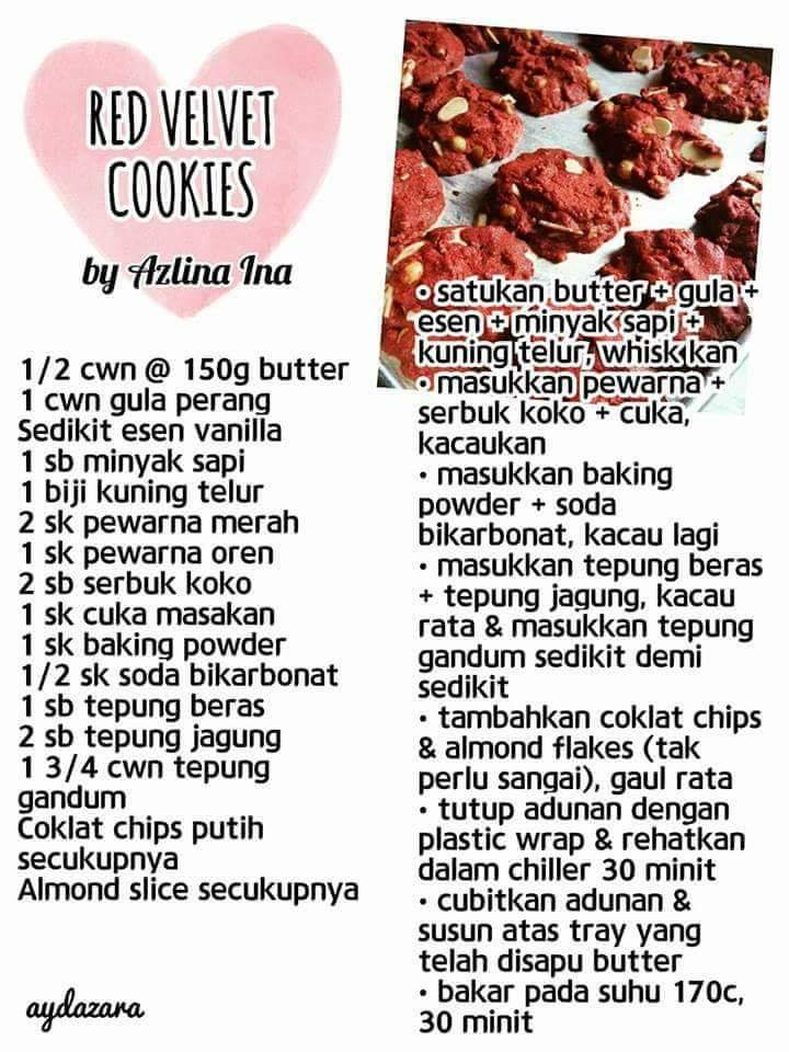 resepi red velvet cookies