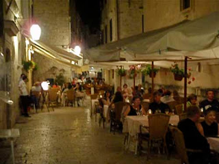 Late Dinner Dubrovnik Croatia