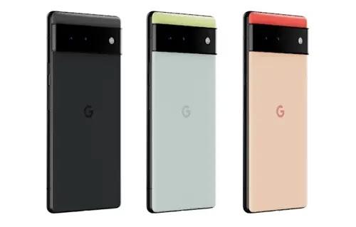 هواتف Pixel 6 الأسود الأخضر الذهبي