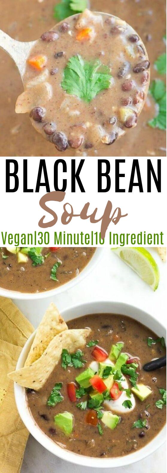 Black Bean Soup #vegan #soup