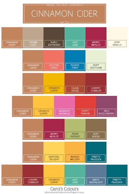 Cinnamon Cider colour combinations Part Two