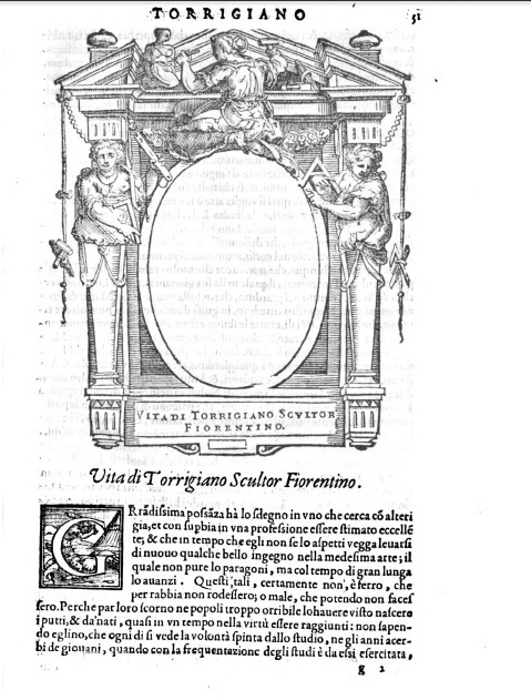 Giovanni mazzaferro hand drawn portraits in giorgio vasaris lives figure 8 portrait of torrigiano florentine sculptor in the specimen 29e4 6 at the corsiniana library of rome as you can see the picture is not included fandeluxe Gallery