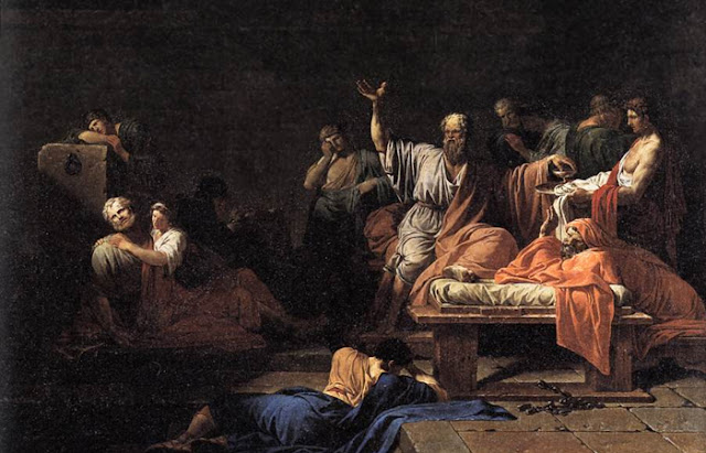 """Jean-François-Pierre Peyron """"A Morte de Sócrates"""""""
