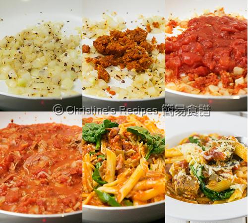 吞拿魚意大利粉配日曬番茄汁製作圖 Tuna Pasta in Sundried Tomato Sauce Procedures2