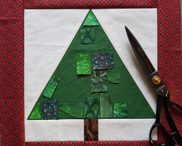 Ticker Tape Tree quilt block | DevotedQuilter.com