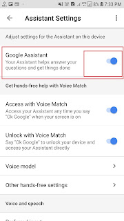 okgoogle google assistant setting enable
