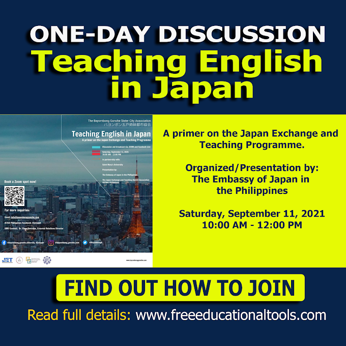 Discussion and Broadcast on Teaching English in Japan | September 11 | Embassy of Japan in the Philippines Programme.