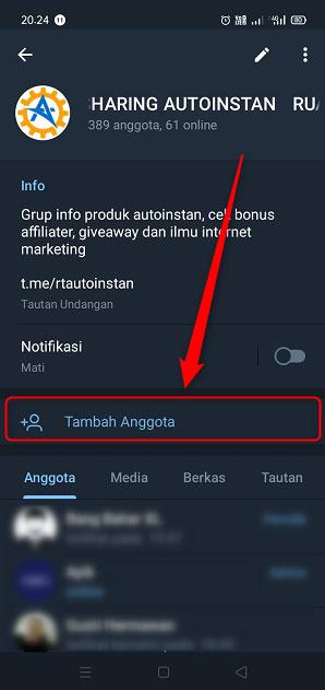 Cara Menambahkan Anggota Ke Grup Telegram 2