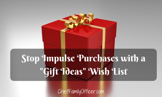 Stop Impulse Purchases with a