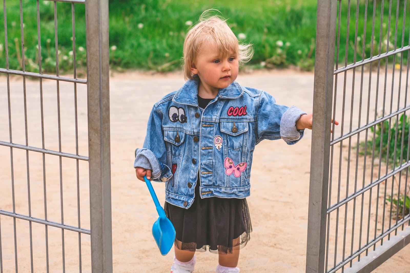 children's jacket with patches