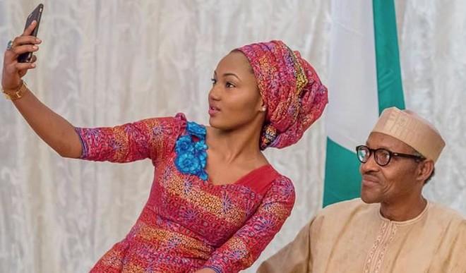 President Muhammadu Buhari amd Zahra Buhari