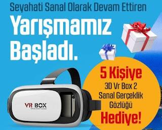 5 Kişiye VR Box Hediye