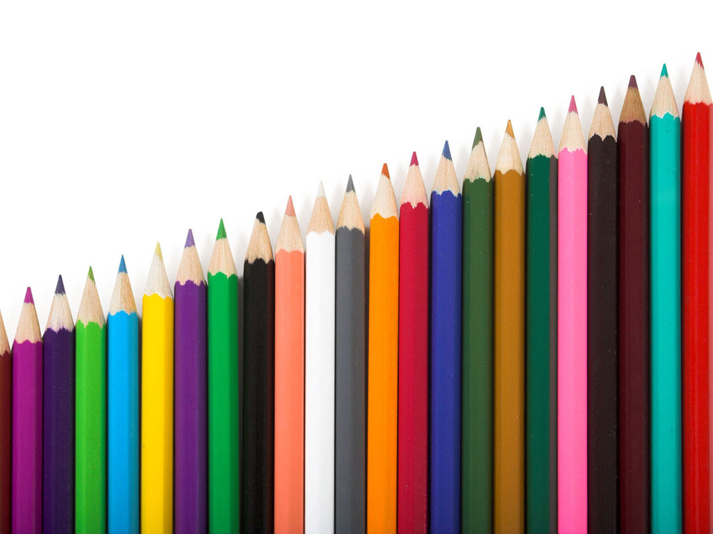 wallpaper: colored pencils, Powerpoint templates