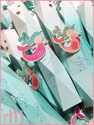 Stampin Up! rosa Mädchen kreativ in Kulmbach: Swaps OnStage 2018 Wiesbaden: vierfach facettierte Box mit Meerjungfrau