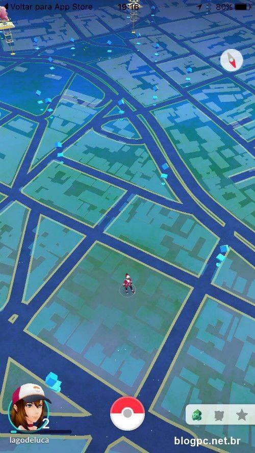 Jogando Pokémon Go como uma fera