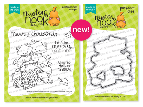 Newton's Christmas Kittens | Holiday Cat Stamp Set by Newton's Nook Designs #newtonsnook