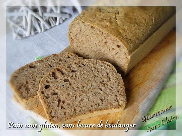 Pain sans gluten sans levure de boulanger