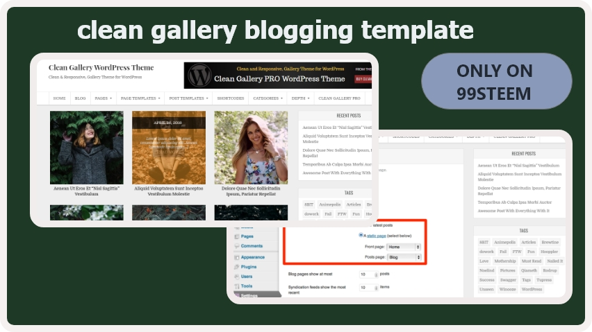 Clean Gallery blogger template