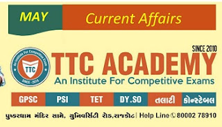 MAY 2019 CURRENT AFFAIR BY TTC ACADEMY