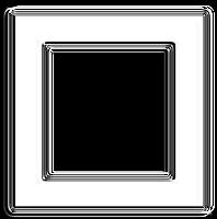 Moldura quadrada metalizada  - criação Blog PNG-Free
