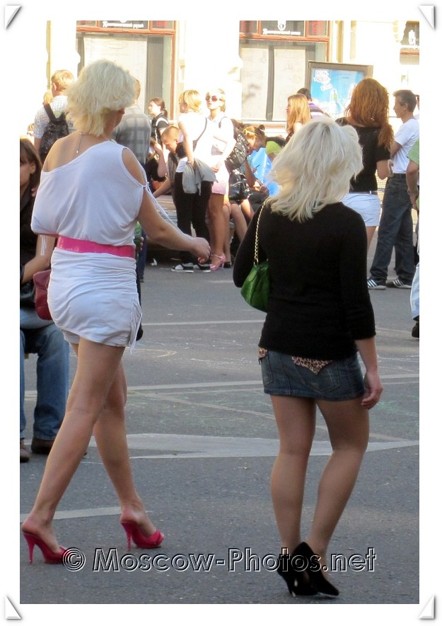 Blonde Moscow Girls Walking