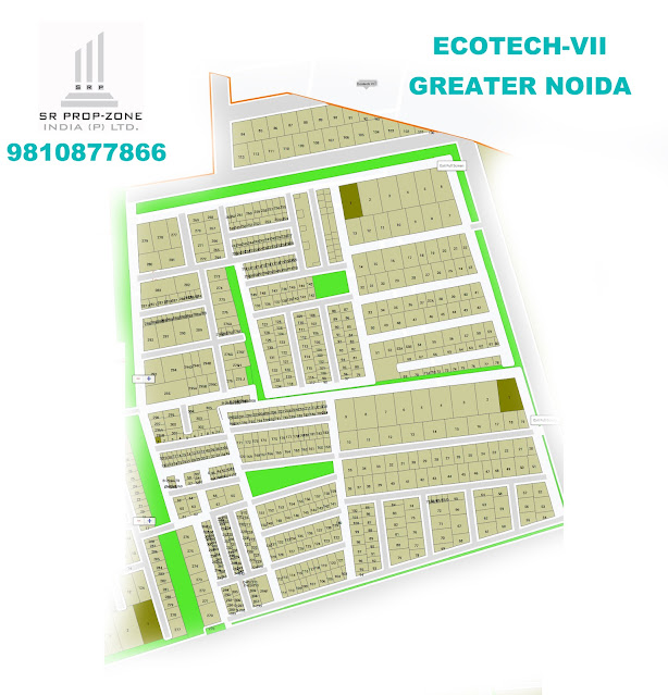 Layout Plan Of Ecotech-VII Greater Noida , High-definition Map