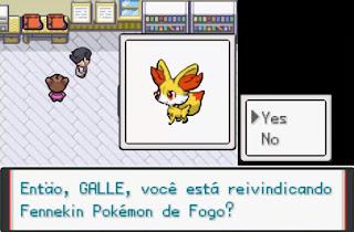 Pokemon Fire XY para GBA Iniciales Starters Pokemon