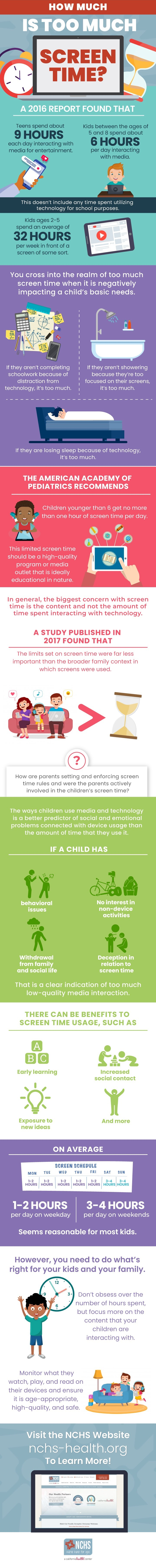 How Much Is Too Much Screen Time? #infographic