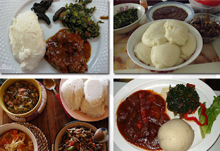 Tanzania most common dishes Ugali