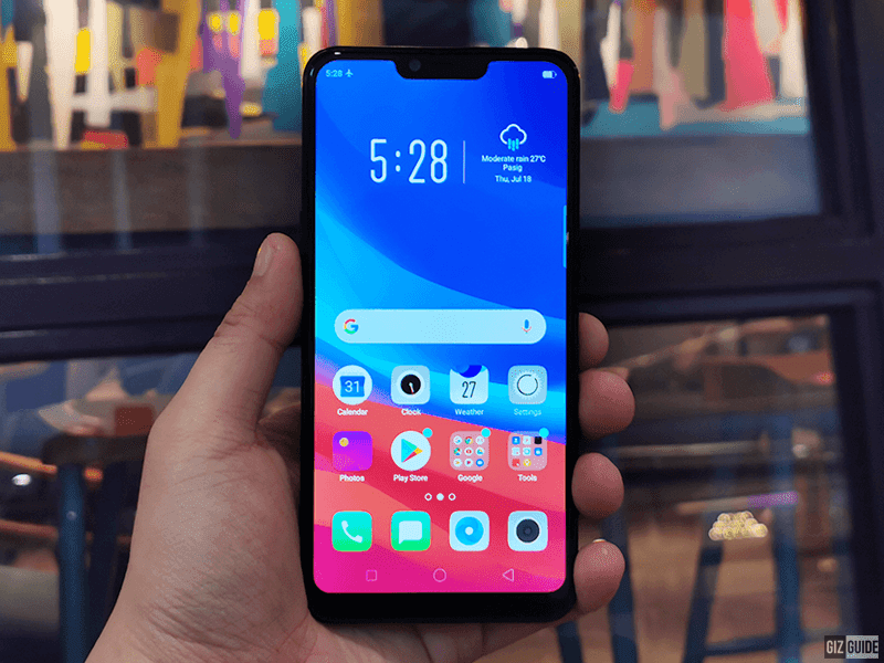 OPPO A3s with large notch