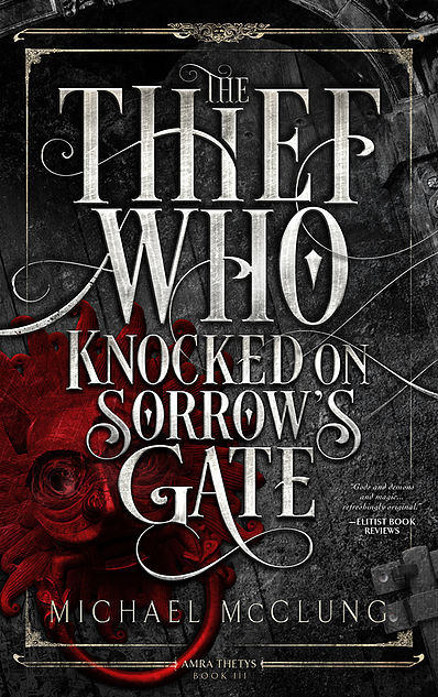 lucky me got a copy of the thief who knocked on sorrows gate by michael mcclung from the publisher ragnarok publications mainly because i was practically