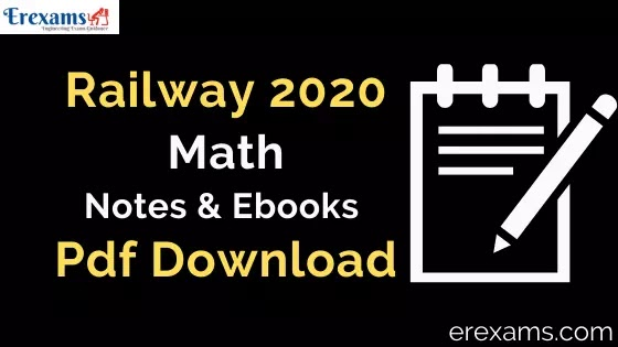 RRB Math Notes and Books Pdf Download Hindi & English