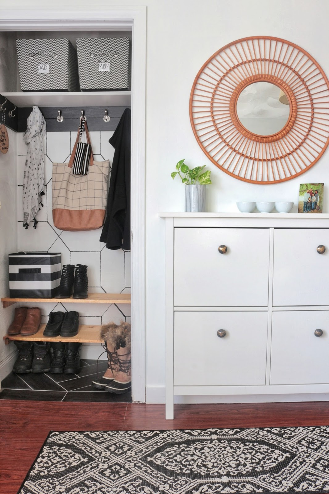 Organization Entryway Coat Closet And Mini Command