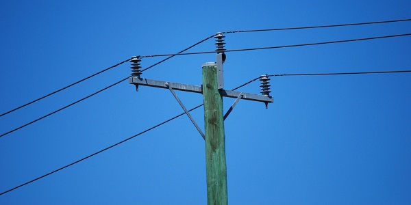 Electric pole for supply