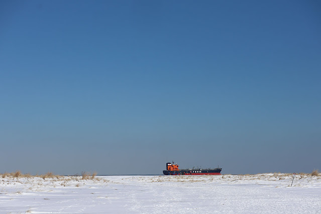 Sandy Hook snow by Marie Viljoen