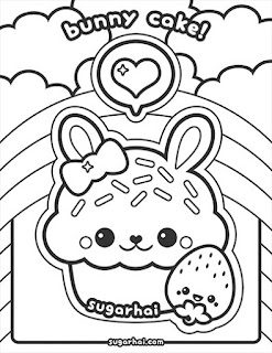 Kawaii food coloring pages free printable