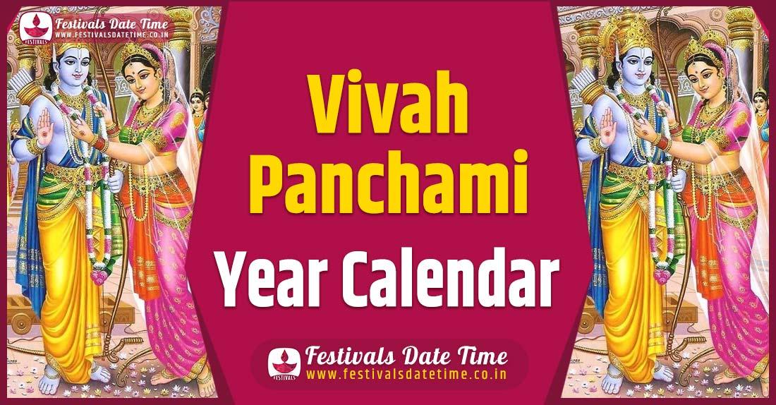 Vivah Panchami Year Calendar, Vivah Panchami Festival Schedule