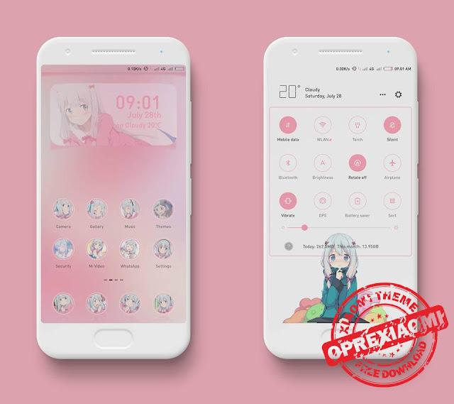 Download Tema Ero Manga Sensei Mtz V3 Full Mod For Xiaomi Redmi