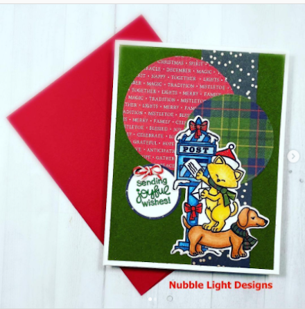 Sending joyful wishes by Priscella Joseph features Holiday Post by Newton's Nook Designs; #newtonsnook, #cardmaking, #christmas