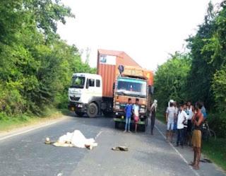 बेगूसराय मे तेज रफ्तार का कहर, सड़क हादसे में मौत से आक्रोशित लोगों ने किया एनएच जाम